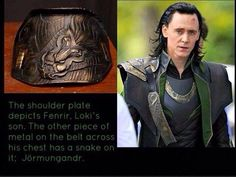 Amazing detail in Loki's costume. Those designers were brilliant!! Loki's children... wow so smart