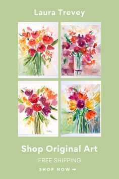 Laura Trevey watercolors. Shop online with free shipping! Add to your art collection.