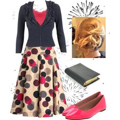 "CEEUUUUTE!!! :D     ""church outfit"" by fiddlegrass-ashley on Polyvore -- really love the skirt, but it's sold out :("