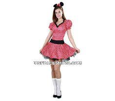 Tu mejor disfraz de ratoncita sexy adulto para mujer.Anímate a disfrazarte y conviértete en la protagonista más famosa de los dibujos animados de la televisión.Emula a uno de los personajes más populares de Disney, la simpática Minnie Mouse, con este gracioso Disfraz de Ratita Presumida para mujer.