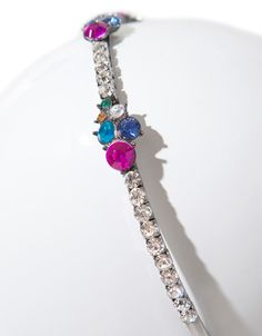 HAIRBAND WITH COLOURED GEMSTONES AND DIAMANTE IN AN ART NOUVEAU STYLE - Accessories - Accessories - Woman - ZARA France