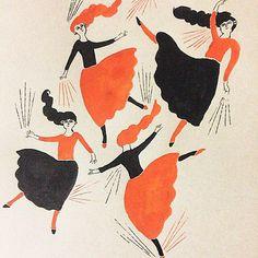 no.156 墨汁 india-ink #イラスト#スケッチ#絵本#ダンス#illustration#sketch#book#artwork#dance