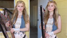 HOTEL CALIFORNIA (Eagles) Harp Twins - Camille and Kennerly