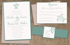 Hey, I found this really awesome Etsy listing at https://www.etsy.com/listing/182547014/sea-turtle-wedding-invitation