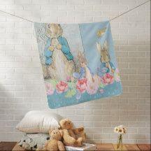 """""""Peter Rabbit"""" BABY/STROLLER BLANKET"""