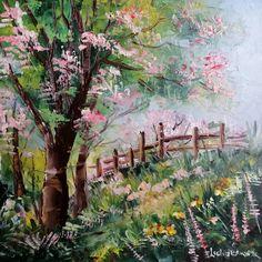 """""""... Dintr-o creangă-n alta zboară Sturzul galben, aurit  Salutare, primăvară, Timp frumos, bine-ai venit! Turturelele se îngână, Mii de fluturi vezi zburând  Și pe harnica albină  Din flori miere adunând ..."""" (text de Vasile Alecsandri) . Painting, Art, Art Background, Painting Art, Kunst, Paintings, Performing Arts, Painted Canvas, Drawings"""