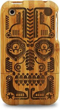 Grove Bamboo Iphone Case - Skull Face