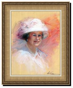 The portrait is executed to the Queen's anniversary several years ago. Elizabeth Ii, Mona Lisa, Anniversary, Portrait, Artwork, Painting, Artist, Work Of Art, Headshot Photography