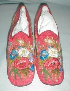 Exceptional 1860's Berlin Work Man's Slippers Provenance | eBay seller fiddybee