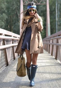 hunter boots ♥ great outfit to go with my boots