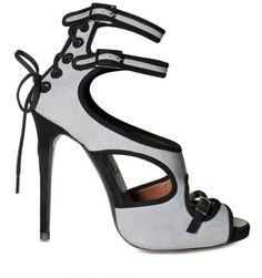fa70638264c2 Double Strap Pumps - Lyst Peep Toe Shoes