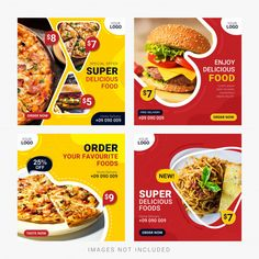Food Graphic Design, Food Menu Design, Food Poster Design, Social Media Banner, Social Media Design, Social Media Template, Restaurant Poster, Restaurant Menu Design, Food Banner