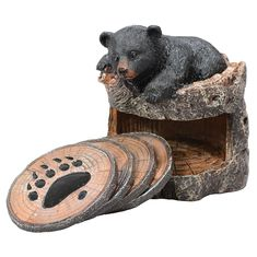 Bear Cub Coaster Set