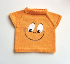 Yellow smile face knitted baby vest merino baby vest sunny vest with eyes MADE TO ORDER -Baby Vest , Yellow smile face knitted baby vest merino baby vest sunny vest with eyes MADE TO ORDER Yellow smile face knitted baby vest merino baby vest sunny ves. Baby Boy Knitting Patterns, Hand Knitting, Crochet Baby Cardigan, Knitted Baby, Very Cute Baby, Baby Girl Sweaters, Baby Pullover, Baby Vest, Crochet For Boys