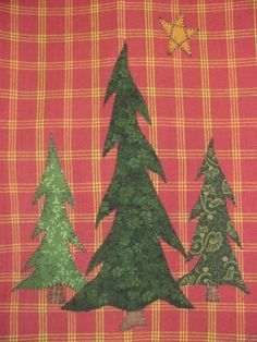 North Woods Pine Tree Applique quilting PDF Pattern for Tea Towel by quiltdoodledesigns on Etsy https://www.etsy.com/listing/53787231/north-woods-pine-tree-applique-quilting