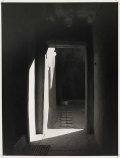 yama-bato:  Once again… (link) Door to Patio, O'Keeffe's House, Abiqui, New Mexico 1981   Todd Webb