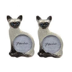 Arcatia Siamese cat photo frames - set of 2 £15