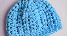 Crochet Puff Stitch Beanie Hat Free Pattern [Video]