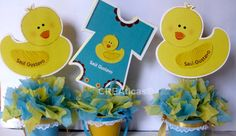 Baby shower Decorations with foam | Centros de Mesa para Baby Showers