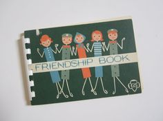 Vintage Scout Friendship Book (make one and let all the little friends fill in a colouring and questions card)