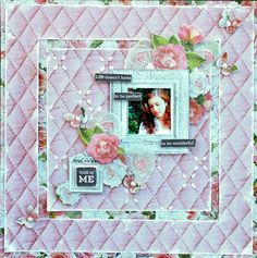Kaisercraft DT - Sea Breeze and Cottage Rose Collections (Cathy Can't Help Herself) Wedding Scrapbook, My Scrapbook, Cottage Rose, All Paper, General Crafts, Pink Champagne, Layout Inspiration, Scrapbooking Layouts, Projects To Try