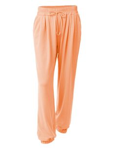 LE3NO Womens Stretchy Loose Fit Cuffed Jogger Pants (CLEARANCE)