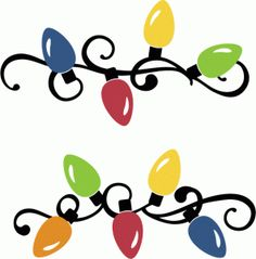 silhouette design store christmas lights small borders christmas projects christmas stencils christmas diy - Christmas Light Border