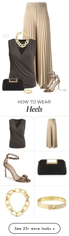 """Love these Pants!!"" by ksims-1 on Polyvore featuring Givenchy, VILA, Manolo…"