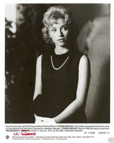 CHINA BEACH NAN WOODS ORIGINAL 1988 ABC TV PHOTO