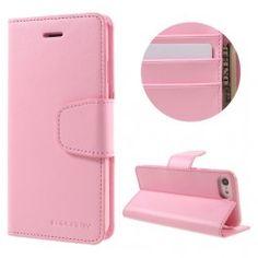 iPhone 7 vaaleanpunainen puhelinlompakko.