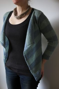 Moseley in Spring cardigan knitting pattern by Littletheorem Knits