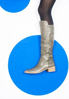 Tetley by Django & Juliette. A beautiful classic leather knee boot featuring a lycra panel at the back which has stretch in it for easy pull on and moulds to your leg. Heel height Leather upper, leather lining. Classic Leather, Soft Leather, Black Leather, Winter Chic, Knee High Boots, Chelsea Boots, Calves, Tights, Legs