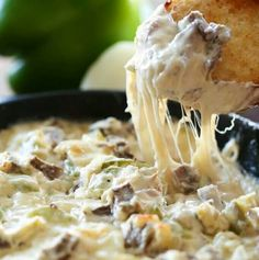 Dip and appetizer season is among us and I couldn't be more happy about that! This Philly Cheese Steak Dip is phenomenal and truly tastes JUST like you … Appetizer Dips, Appetizer Recipes, Snack Recipes, Cooking Recipes, Steak Appetizers, Milk Recipes, Appetizer Crockpot, Cooking Tips, Party Dip Recipes