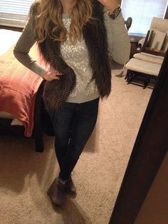 #express jean leggings, sequin sweater #forever21 vest #Charlotterusse booties #fancypantsmommy