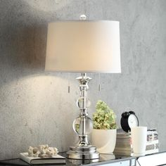 INSPIRE Q Quinn Crystal Mercury Base 2-Light Accent Table Lamp - Overstock Shopping - The Best Prices on INSPIRE Q Desk Lamps