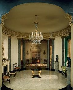 English Rotunda and Library - Regency Period c. 1810-20, The Thorne Miniature Rooms