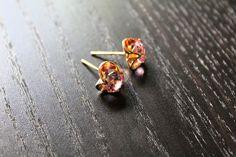 Rose Gold Stud Earrings Fashion Jewelry Womens Earrings Vintage Jewelry Unique