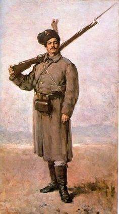 Dorobantul (The Infantry man - Romanian soldier from the War of Independence, by Nicolae Grigorescu Famous Artists, Great Artists, Human Pictures, Art Database, High Art, Portrait Art, New Art, Painting & Drawing, Art History