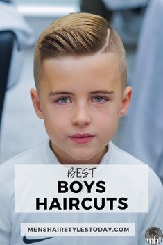 Best Boys Haircuts and Hairstyles - Find The Best Hairstyles For Little Boys - Comb Over Side Part Fade Undercut Quiff Pompadour Faux Hawk Mohawk - May 25 2019 at Young Boy Haircuts, Boy Haircuts Short, Cool Boys Haircuts, Little Boy Hairstyles, Baby Boy Haircuts, Trendy Haircuts, Haircuts For Men, Teenager Haircuts Boys, Cute Little Boy Haircuts