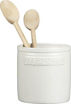French Kitchen Marble Utensil Crock in Utility Storage Utensil Holder, Utensil Set, Crate Storage, Food Storage Containers, French Kitchen, Country Kitchen, Pantry Laundry Room, Laundry Rooms, Kitchen Items
