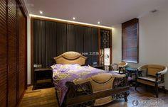 Elegant classical Chinese bedroom design 2015