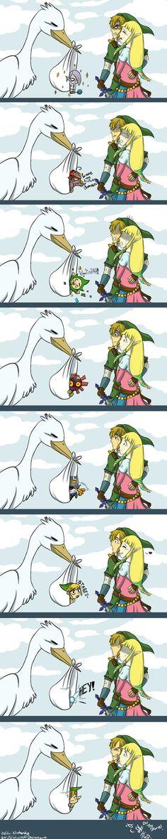 The stork, The Legend of Zelda series artwork by Kilala04.