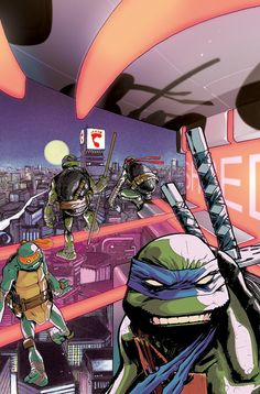 TMNT Turtles In Time #4 SUB Cover - Dan Duncan