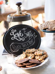 Homemade cookies are a sweet way to end any shabby-chic wedding.