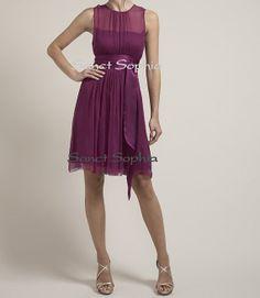 Knee length Purple Custom Short Bridesmaid Dress Custom Color Prom Dress Vintage Modest Purple Wedding Party Dress via Etsy