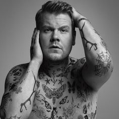 James Corden rocks a body of tattoos for the pages of WSJ. magazine.