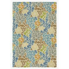 Sea Glass Rug in Lagoon (Geometric Pattern, Rug Sample) | Handmade Area Rugs from Company C (New)