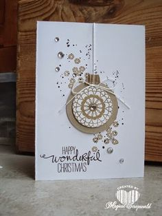 Magical Scrapworld: stampin' Up! Hello Darling, Christmas card