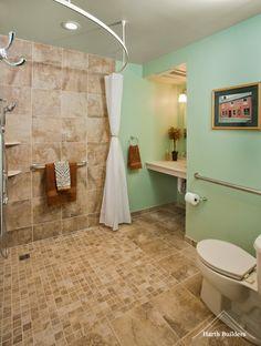 Handicap bathroom design boomer wheelchair accessible bathroom in austinuniversal design - Universal designs bathroom interior ...