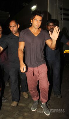 Ranveer Singh arriving for the shoot of 'Dil Dhadakne Do' in Mumbai. #Style #Bollywood #Fashion #Beauty
